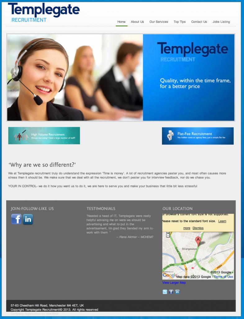 templegaterecruitment website